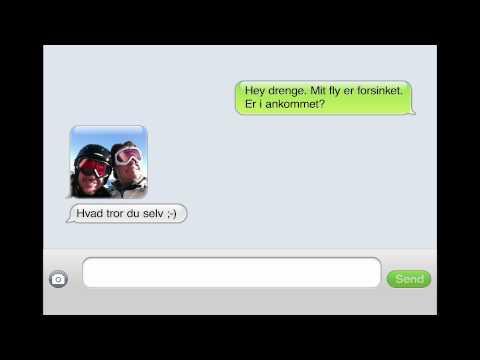 SAS SMS: Hvis du har noget du skal nå (Skiferie)
