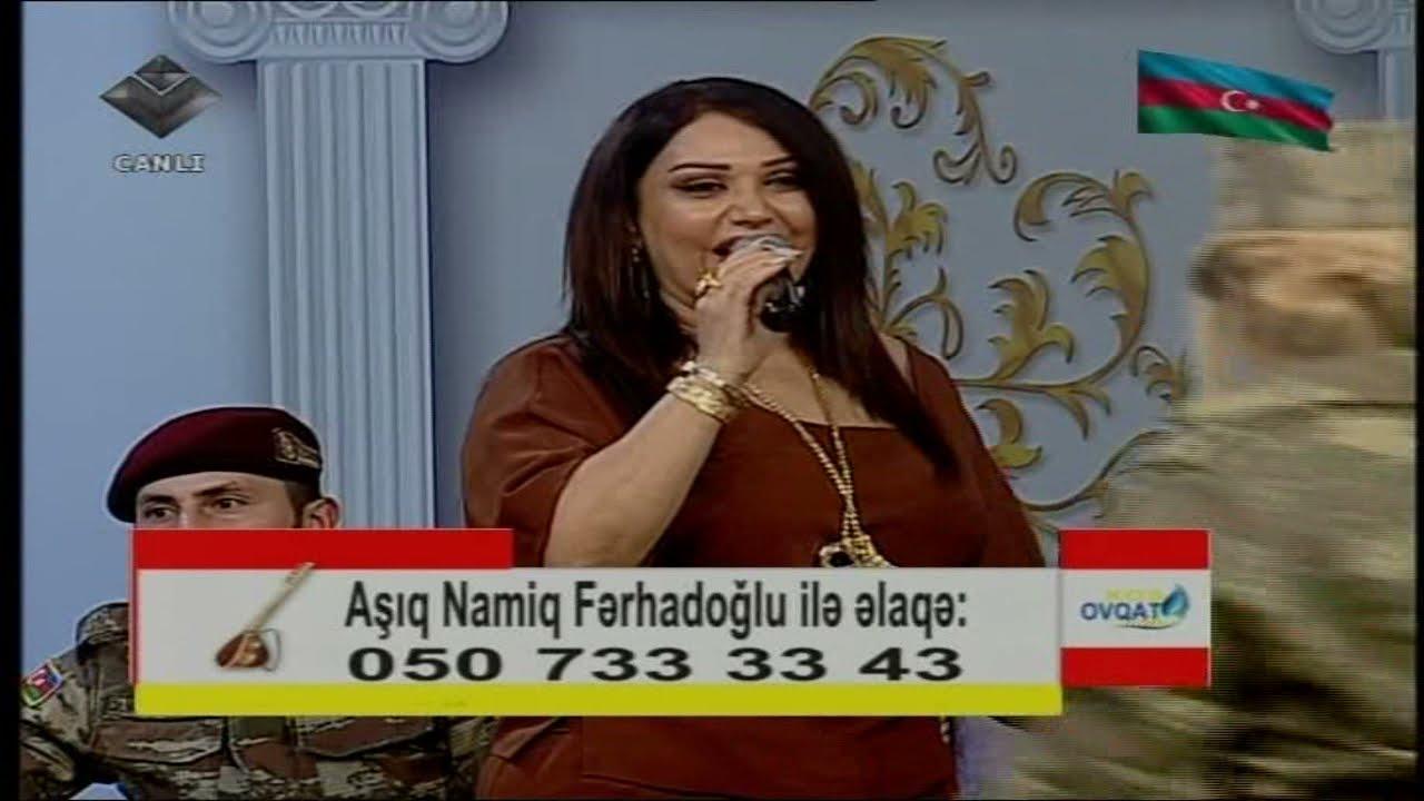 Aşıq Namiq Fərhadoğlu,Mənzurə Musayeva və Gülzar Bədirxanova -  Əsgər marşı
