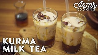 BROWN SUGAR MILK TEA SEGAR PAKAI KURMA | ASMR COOKING #3