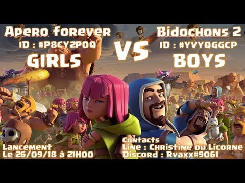 Clash of Clans Girls vs Boys 50vs50