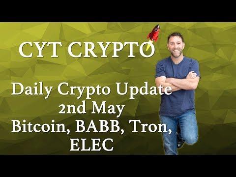 Daily Crypto Update -BABB, Bitcoin, ELEC, Tron