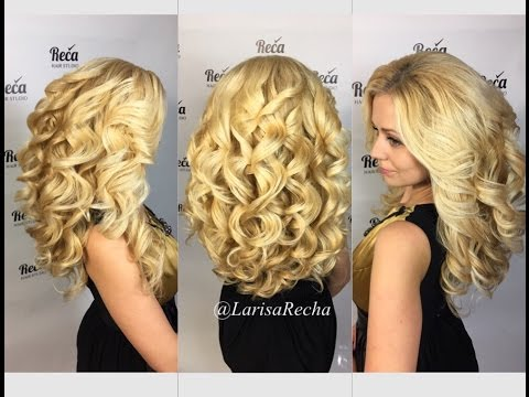 Large curls. Крупные локоны. Лариса Реча.