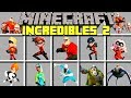 Minecraft INCREDIBLES 2 MOD l MR. INCREDIBLE, ELASTIGIRL, FROZONE, VIOLET, VOYD Modded Mini-Game