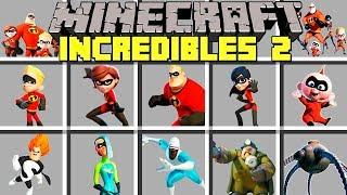 Minecraft INCREDIBLES 2 MOD l MR. INCREDIBLE, ELASTIGIRL, FROZONE, VIOLET, VOYD Modded Mini-Game