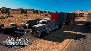 ДВОЙНОЙ ПРИЦЕП! / Elko-Truckee   American Truck Simulator #2