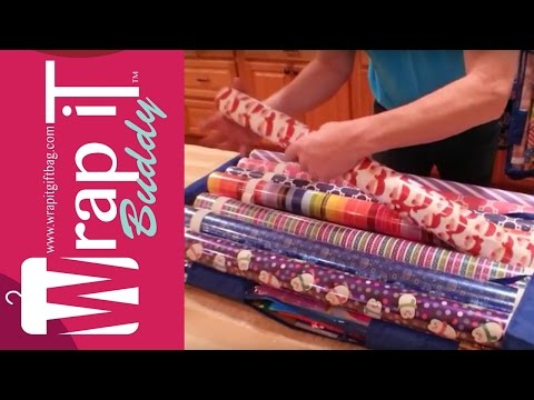 Wrapping Paper Organizer the Best with Wrap iT Buddy
