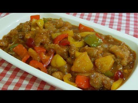 Receta fácil de cerdo agridulce como en los restaurantes Chinos ! Super delicioso ¡
