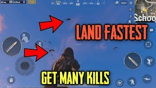 How To LAND FASTER In PUBG Mobile | LAND FIRST And FARTHEST | PUBG Mobile 0.9.0 and 0.8 Update