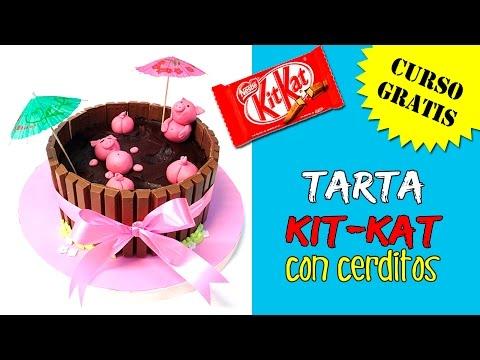 Tarta KIT KAT con cerditos MUY FÁCIL * Tartas originales y fáciles
