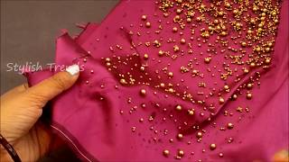 Easy making of Beads blouse || Latest Technique for Fashion Designers| Aari / maggam work blouse