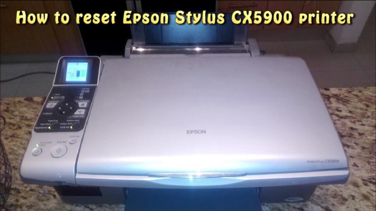 reset epson cx5900