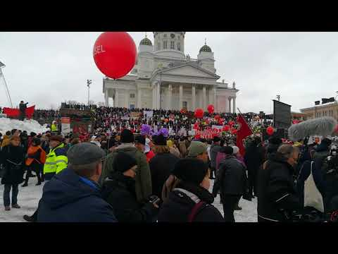 Helsinki strike about aktiivimalli law for unemployment