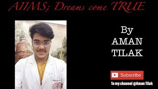 Tips and inspiration to crack AIIMS 2019 exams Link for My Channel ...