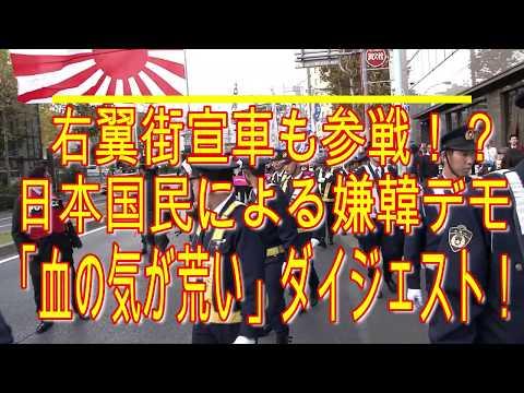 右翼街宣車も参戦⁉ 「血の気が荒い」日本国民による嫌韓デモ ダイジェスト‼  日韓断交