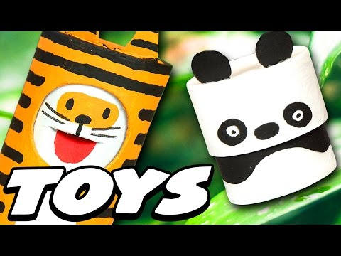 DIY Cute Jungle Animal Toys | Craft Ideas for Kids on Box Yourself