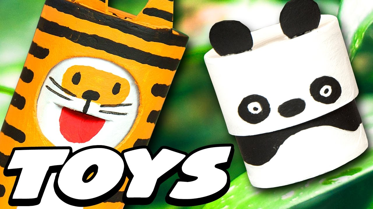 Diy Cute Jungle Animal Toys Craft Ideas For Kids On Box Yourself