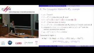 Aurore Guillevic: Computing discrete logarithms in GF(pn): practical improvement of ...