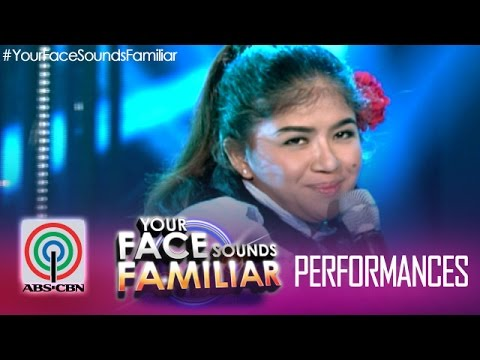 "Your Face Sounds Familiar: Melai Cantiveros as Nora Aunor - ""Pearly Shells"""