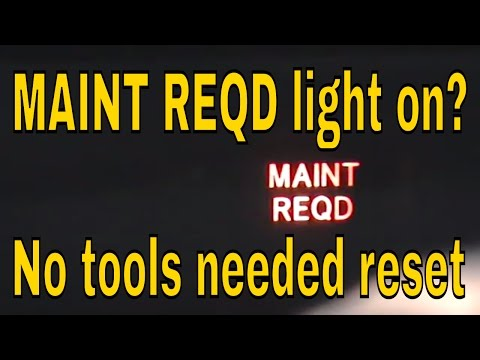 How to reset maint reqd light on Toyota Prius hybrid