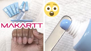 Trying Makartt Blue Polygel Nail Kit