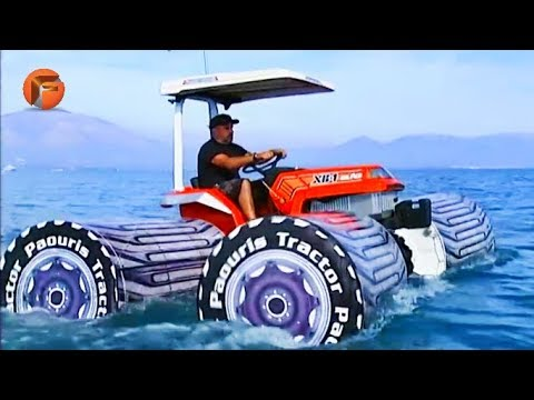 This AMPHIBIOUS TRACTOR can sail the seas ▶10 AMAZING MACHINES
