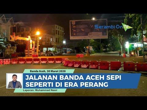 Setelah 'Jam Malam' Berlaku, Jalanan Banda Aceh Sepi, Seperti Di Era Perang