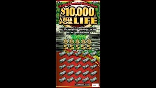$20 - $10,000 A WEEK FOR LIFE! WIN! Lottery Bengal Scratching Scratch Off instant ticket! WIN!