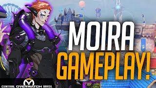 GAMEPLAY MOIRA NOVO HERÓI NO NOVO MAPA BLIZZARD WORLD! - OVERWATCH
