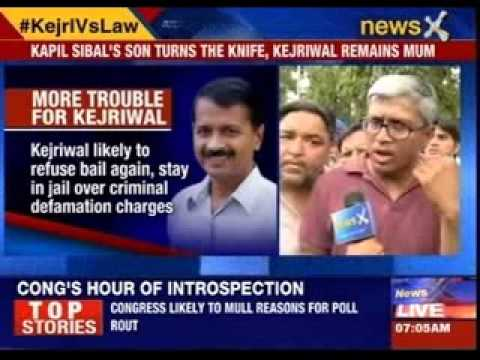 Kapil Sibal's son turns the knife, Kejriwal remains mum