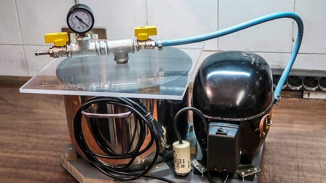 DIY Vacuum Pump And Chamber - YouTube