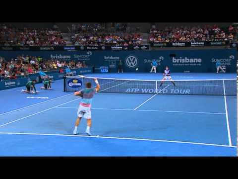 Samuel Groth v Ryan Harrison - Highlights Mens Singles Round 1: Brisbane International 2014