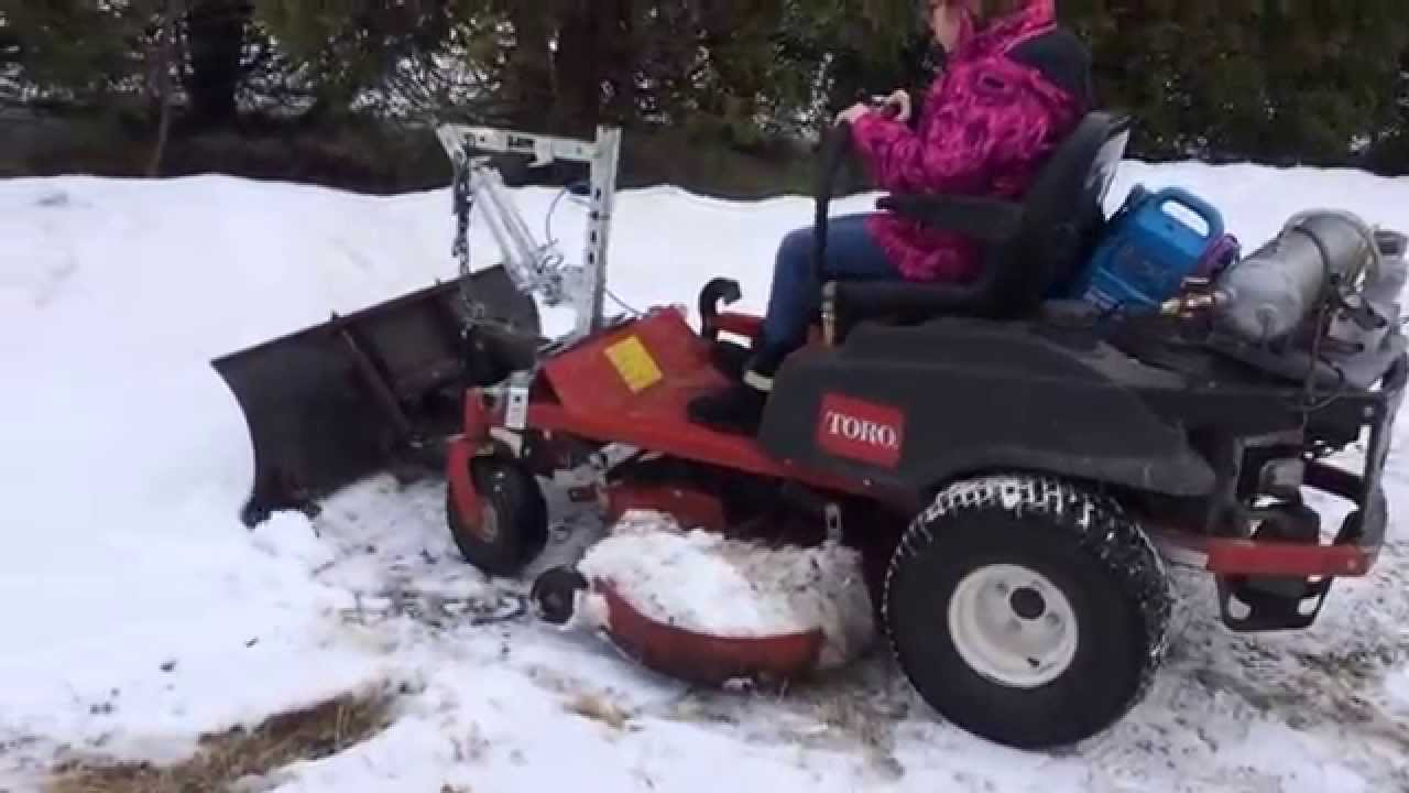 Needs get hustler z snowblower cumshot