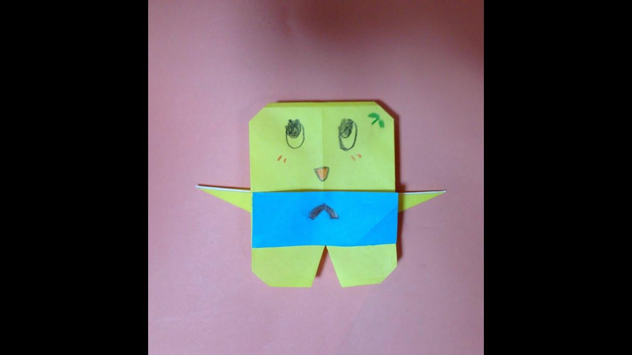 すべての折り紙 折り紙 キャラクター 立体 : 折り紙 ふなっしー 折り方 ...