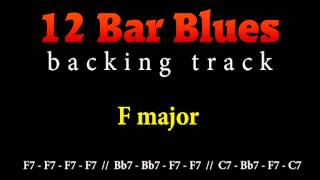 Slow blues backing track in F major for guitar solo (12 bar blues)