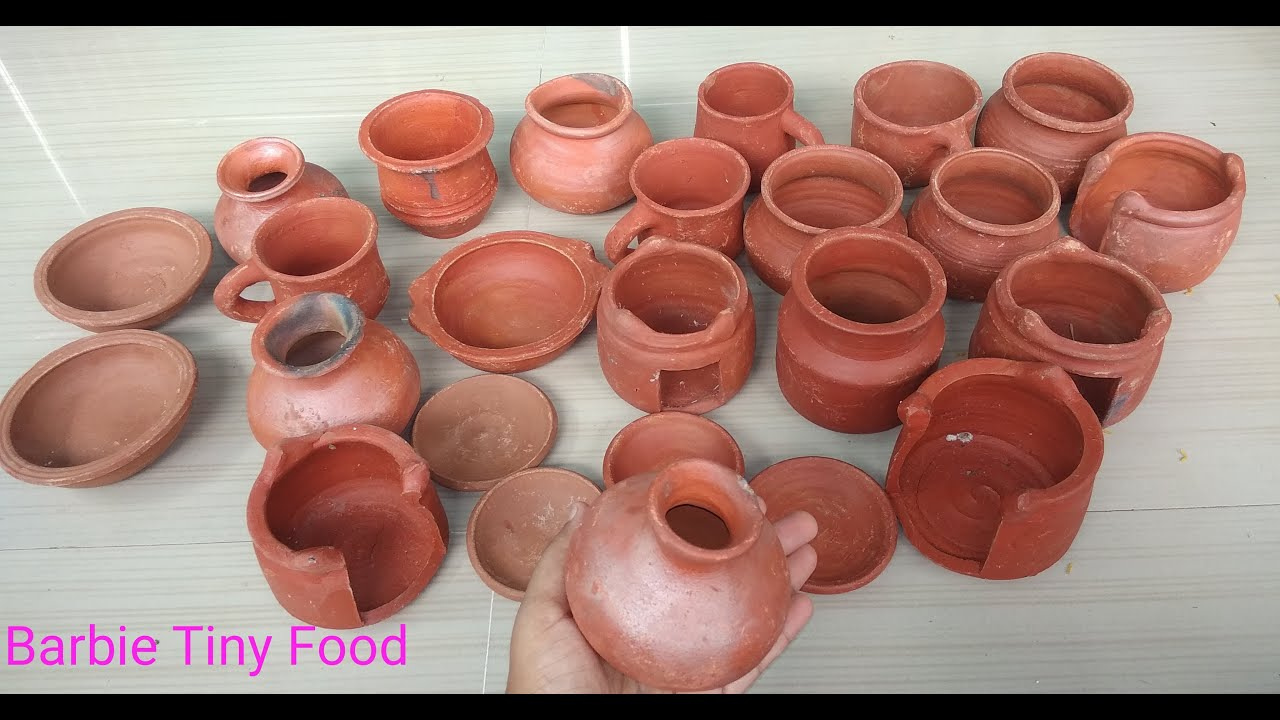 Barbie Tiny Clay Kitchen Items Traditional Cookware Unboxing Dollhouse Accessories In India Youtube