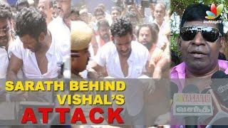 Sarath Kumar behind Actor Vishal