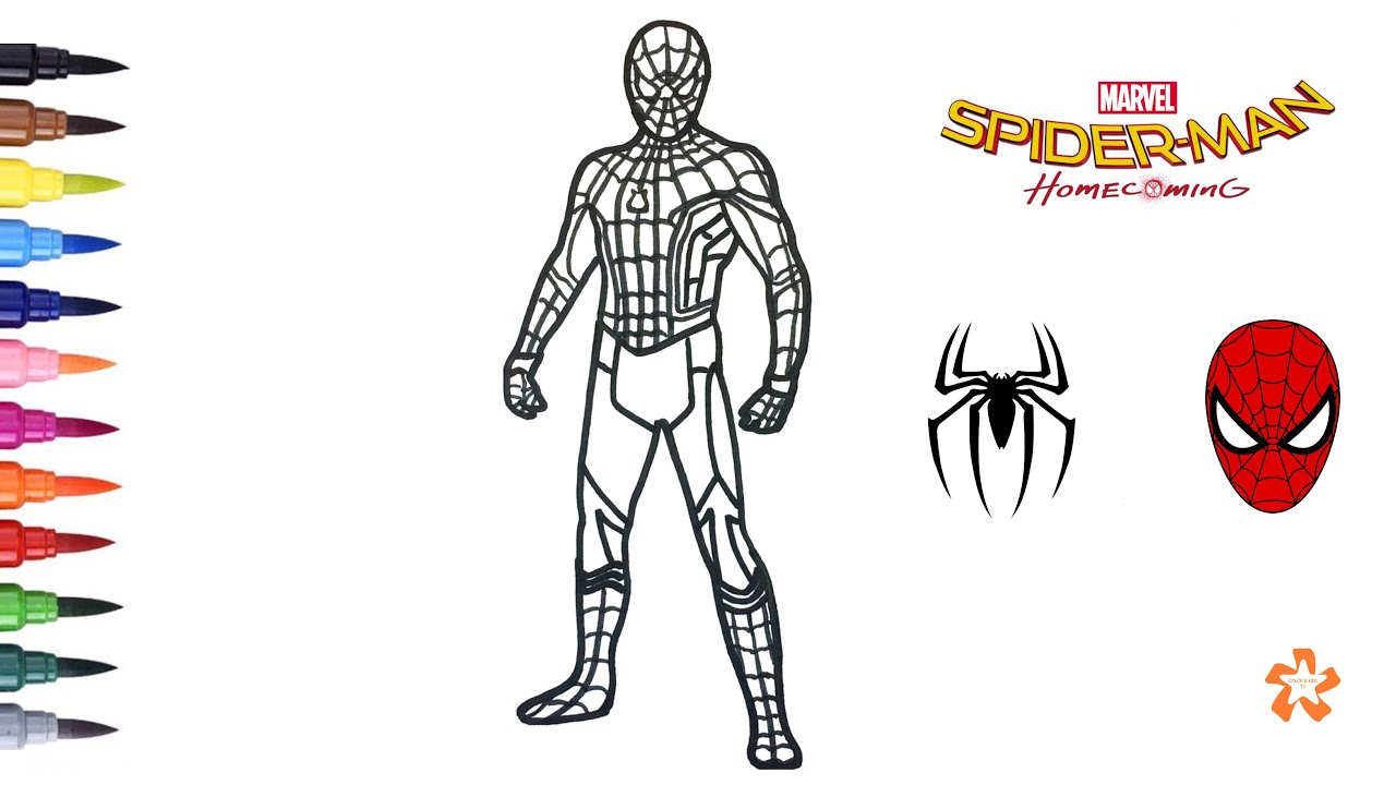 spider man homecoming coloring pages Spider man: Homecoming   Coloring Spider man   Coloring Pages For  spider man homecoming coloring pages