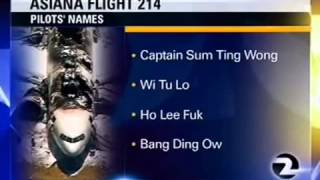 'Ho Lee Fuk' San Francisco TV Station Pranked Into Reporting Fabricated Names Of Asiana Pilots