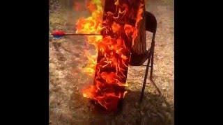 Flaming arrow shot