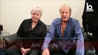 air supply special comment for billboard live 10th anniversary 2017
