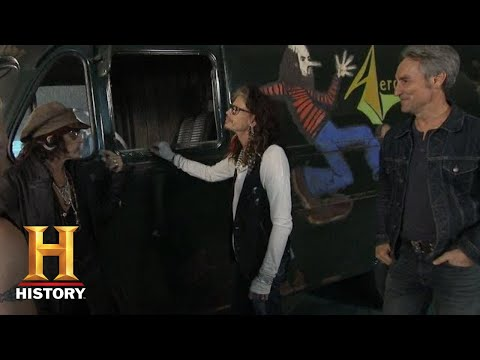 Jean Marie - American Pickers Give Aerosmith Their Old Tour Van Back!
