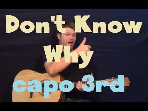 Don't Know Why (Norah Jones) Easy Guitar Lesson Strum Chord Fingerstyle How to Play Tutorial