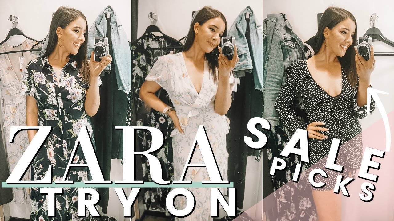 ece57a2c039a4 ZARA TRY ON - SUMMER SALE 2018 | SHOP WITH ME - YouTube