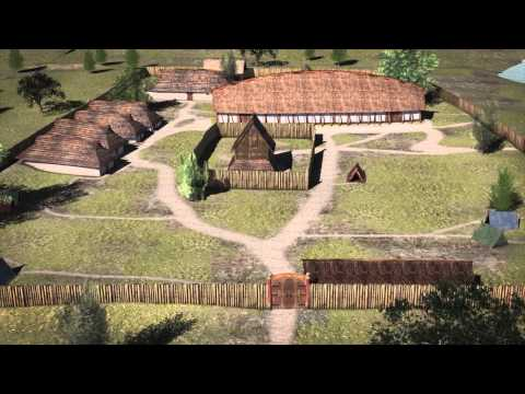 3D-animation of Tissø in The Viking Age