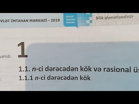 9-cu sinif Riyaziyyat DIM Rasional üstlü qüvvət A variantı