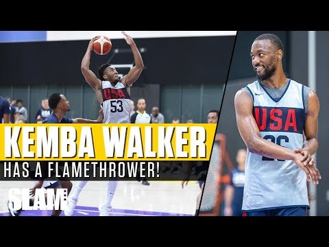 Kemba Walker Has a FLAMETHROWER! 🔥 Donovan Mitchell Takes OFF at USA Practice