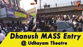 Dhanush MASS Entry @ Udhayam Theatre - Anegan Movie | Anirudh | FULL Video