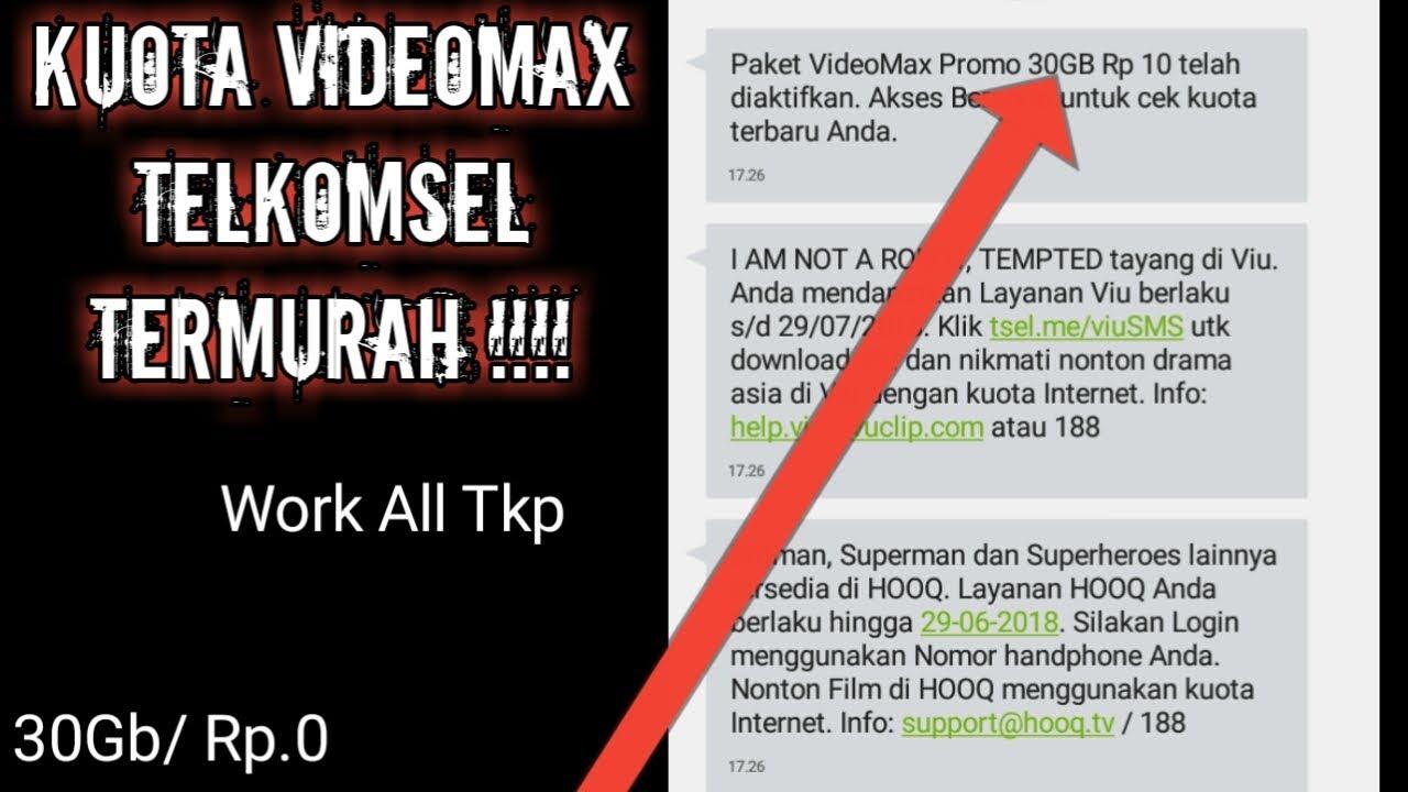Baru Kuota Videomax Termurah Telkomsel 30gb Rp 10 Asli