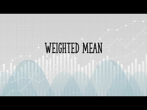 How to find a weighted mean
