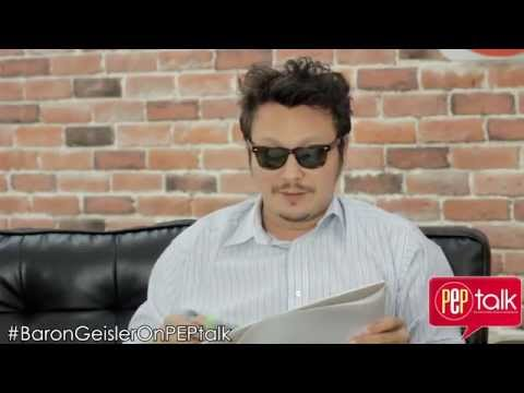 PEPtalk. Baron Geisler shows his talent in drawing and poetry